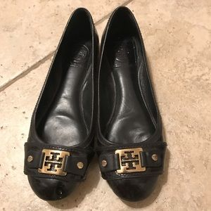 Tory Burch Square Buckle Ballet Flats